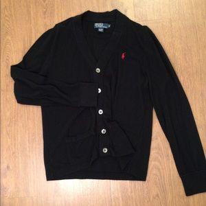 Men's RALPH LAUREN POLO Black  Cardigan (Size  M